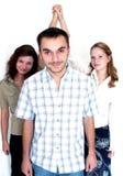 Personas del asunto del ganador Imágenes de archivo libres de regalías