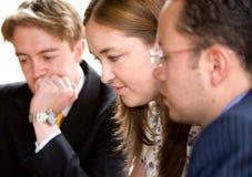 Personas del asunto en una reunión Imágenes de archivo libres de regalías