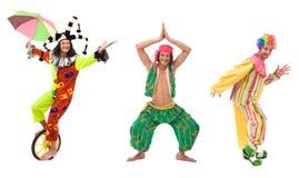 Personas del circo Imagen de archivo