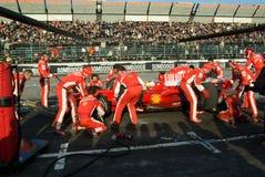 Personas del Fórmula 1 de Ferrari Imagen de archivo libre de regalías