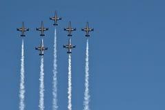 Personas del jet de Breitling Foto de archivo libre de regalías
