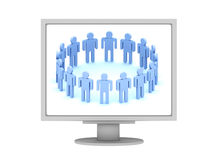 Personas del logotipo 3d en la visualización Fotos de archivo libres de regalías