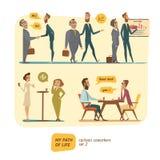 Personas del negocio en tratos ilustración del vector