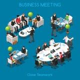 Personas del negocio 01 isométricas stock de ilustración