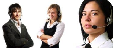 Personas del operador del centro de atención telefónica Foto de archivo libre de regalías