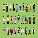 28 personas del pixel Imagen de archivo