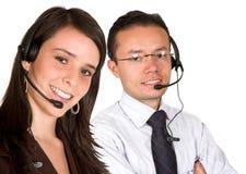 Personas del servicio de atención al cliente Fotografía de archivo