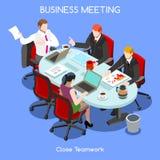 Personas del sitio 03 del negocio isométricas Foto de archivo libre de regalías