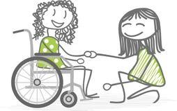 Personas discapacitadas Fotos de archivo libres de regalías