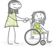Personas discapacitadas Foto de archivo libre de regalías