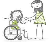 Personas discapacitadas Imágenes de archivo libres de regalías