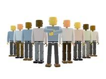 Personas diversas con el arranque de cinta Fotografía de archivo