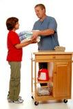 Personas domésticas del lavadero Imagen de archivo libre de regalías