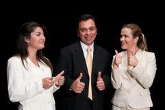 Personas ejecutivas muy felices Fotografía de archivo libre de regalías