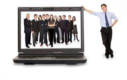 Personas en línea del asunto Imagen de archivo libre de regalías