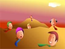 Personas enterradas del asunto libre illustration