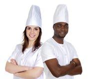 Personas felices de los cocineros Imagen de archivo