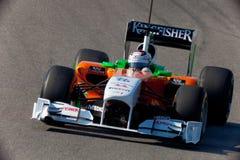Personas ForceIndia F1, Adrian Sutil, 2011 Imagen de archivo