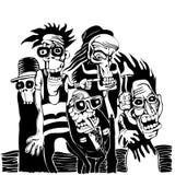 Personas locas Imagen de archivo libre de regalías