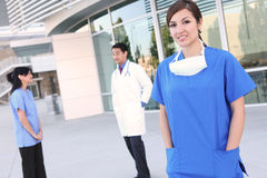 Personas médicas acertadas felices Fotografía de archivo libre de regalías