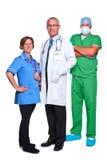 Personas médicas aisladas en blanco Fotos de archivo libres de regalías