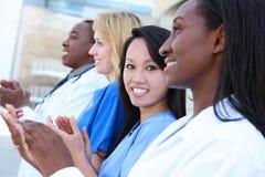 Personas médicas atractivas diversas Fotografía de archivo