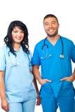 Personas médicas cómodas Foto de archivo
