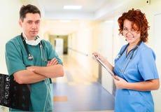 Personas médicas en clínica Foto de archivo libre de regalías