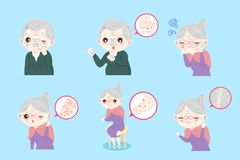 Personas mayores con problema de piel Imagen de archivo libre de regalías