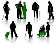 Personas mayores. Parte 6 stock de ilustración