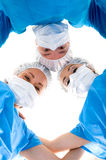 Personas médicas en azul Fotografía de archivo