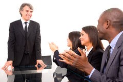 Personas Multi-ethnic durante una reunión Fotografía de archivo