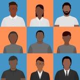 Personas negras de las imágenes del perfil ilustración del vector