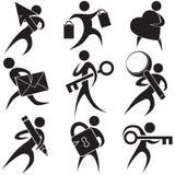 Personas negras de los iconos libre illustration