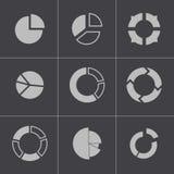 Personas negras de los iconos de la búsqueda del vector fijados ilustración del vector