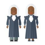 Personas negras del juez stock de ilustración
