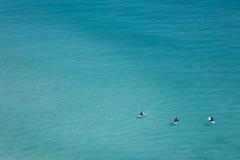 Personas que practica surf de refrigeración, Cape Town Imágenes de archivo libres de regalías