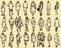Personas que recorren en la calle Fotos de archivo