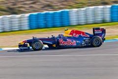Personas RedBull F1 que compite con, marca Webber, 2011 Imagen de archivo libre de regalías