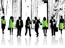 Personas verdes Imagen de archivo libre de regalías