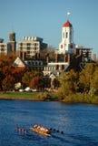 Personas y edificio, Cambridge, mA del Rowing de Harvard Foto de archivo libre de regalías