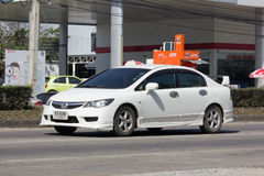 Personbil Honda Civic På den ingen vägen 1001 Royaltyfri Fotografi