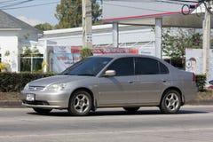 Personbil Honda Civic På den ingen vägen 1001 Royaltyfri Foto