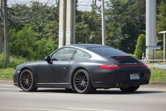 Personbil Porsche carrera 4s Arkivbild