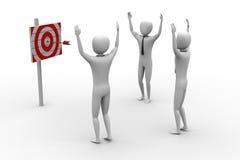 Persone con un obiettivo e le frecce Illustrazione Vettoriale