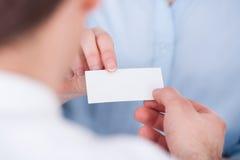 Persone di affari che scambiano biglietto da visita Fotografia Stock