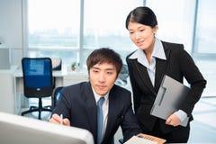 Persone di affari coreane Fotografie Stock