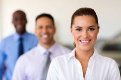Persone di affari in una fila Immagine Stock