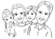 persone 4 feliz famlly ilustración del vector