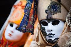 Maschera variopinta di carnevale, piazza San Marco, Venezia, Italia Fotografie Stock Libere da Diritti